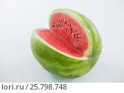Купить «Close-up of watermelon», фото № 25798748, снято 19 декабря 2016 г. (c) Wavebreak Media / Фотобанк Лори
