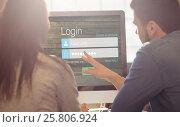 Купить «Composite image of close-up of login page», фото № 25806924, снято 19 ноября 2019 г. (c) Wavebreak Media / Фотобанк Лори
