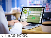 Купить «Composite image of close-up of login page», фото № 25807092, снято 19 августа 2018 г. (c) Wavebreak Media / Фотобанк Лори