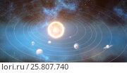 Купить «Graphic image of solar system 3d», фото № 25807740, снято 24 мая 2019 г. (c) Wavebreak Media / Фотобанк Лори
