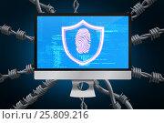 Купить «Composite image of fingerprint 3d», фото № 25809216, снято 22 августа 2018 г. (c) Wavebreak Media / Фотобанк Лори