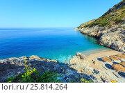 Купить «Summer Ionian sea coast, Albania.», фото № 25814264, снято 12 июля 2016 г. (c) Юрий Брыкайло / Фотобанк Лори