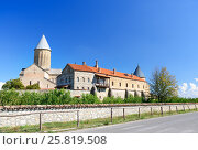 Купить «View of Alaverdi Monastery in the Alazani valley. Kakheti region. Georgia», фото № 25819508, снято 18 сентября 2016 г. (c) Elena Odareeva / Фотобанк Лори