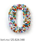 Купить «Number 0 zero. Set of alphabet of medicine pills, capsules, tablets and blisters isolated on white.», фото № 25824348, снято 19 июня 2019 г. (c) Maksym Yemelyanov / Фотобанк Лори