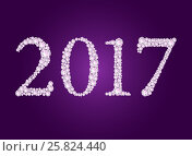 Купить «Vector diamond 2017 text», иллюстрация № 25824440 (c) Elisanth / Фотобанк Лори