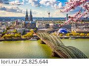 Купить «Aerial view of Cologne at spring», фото № 25825644, снято 22 сентября 2012 г. (c) Sergey Borisov / Фотобанк Лори