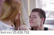 Купить «Young man romantically proposing to girlfriend», видеоролик № 25828732, снято 10 марта 2017 г. (c) Илья Насакин / Фотобанк Лори