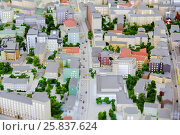Купить «Layout of city streets, roads with car, buildings», фото № 25837624, снято 20 декабря 2014 г. (c) Losevsky Pavel / Фотобанк Лори
