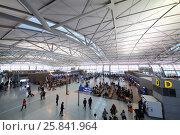 Купить «SEOUL - NOV 05, 2015: Large hall of Inchhon airport with many travelers, airport is largest aviation hub of country», фото № 25841964, снято 5 ноября 2015 г. (c) Losevsky Pavel / Фотобанк Лори