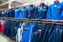 Мужские спортивные костюмы в магазине, фото № 25843896, снято 28 марта 2017 г. (c) Сергей Тагиров / Фотобанк Лори