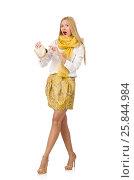 Купить «Nice woman model isolated on the white background», фото № 25844984, снято 8 августа 2014 г. (c) Elnur / Фотобанк Лори