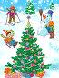 Пейзаж с детьми и новогодней нарядной ёлкой, иллюстрация № 25855128 (c) Анастасия Сердюкова / Фотобанк Лори