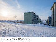Купить «Вечерний пейзаж в городе Воркута», фото № 25858408, снято 25 марта 2015 г. (c) Александр Иванов / Фотобанк Лори