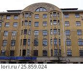 Купить «Riga, Terbatas 61-65, Art Nouveau quarter», фото № 25859024, снято 28 февраля 2017 г. (c) Andrejs Vareniks / Фотобанк Лори
