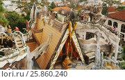 Купить «Hang Nga Guesthouse Crazy House, design Interior and Exterior landmark architecture Odd House», видеоролик № 25860240, снято 1 октября 2016 г. (c) Mikhail Davidovich / Фотобанк Лори
