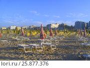Пляж Италии, Римини (2010 год). Стоковое фото, фотограф Екатерина Пономарева / Фотобанк Лори