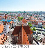Купить «Munich Panorama with old town hall. Bavaria, Germany», фото № 25878008, снято 7 июня 2016 г. (c) Юрий Дмитриенко / Фотобанк Лори