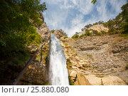 Купить «Водопад Учан-Су . Крым.», эксклюзивное фото № 25880080, снято 8 сентября 2015 г. (c) Владимир Чинин / Фотобанк Лори