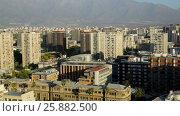 Купить «Panoramic view of the Chilean capital, Santiago. Chile,», видеоролик № 25882500, снято 22 марта 2017 г. (c) Яков Филимонов / Фотобанк Лори