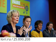 Купить «Press conference for the opening of Fair Trade weeks 2013 performed in Berlin.», фото № 25890208, снято 11 декабря 2018 г. (c) age Fotostock / Фотобанк Лори