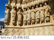 Купить «Gothic statues of an array of saints. Gothic Cathedral of Notre-Dame, Amiens, France.», фото № 25896632, снято 22 августа 2012 г. (c) age Fotostock / Фотобанк Лори