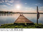 Купить «Sonnenuntergang am Badesee in Rauchwart im südlichen Burgenland. Österreich.», фото № 25904640, снято 5 июля 2020 г. (c) age Fotostock / Фотобанк Лори