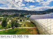 Купить «View of Rike Park with Bridge of Peace in Tbilisi, Georgia», фото № 25905116, снято 24 сентября 2016 г. (c) Elena Odareeva / Фотобанк Лори