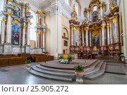 Купить «Altar of the St. Casimir's Church in Vilnius, Lithuania.», фото № 25905272, снято 26 мая 2019 г. (c) BE&W Photo / Фотобанк Лори