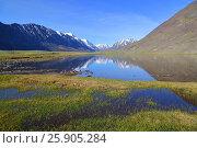 Купить «Mountain landscape with lake», фото № 25905284, снято 11 июня 2015 г. (c) Михаил Коханчиков / Фотобанк Лори