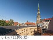 Cityscape of Riga, the capital city of Latvia. Стоковое фото, агентство BE&W Photo / Фотобанк Лори