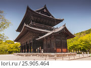 Купить «Sanmon Gate at Nanzen-ji Temple in Kyoto, Japan», фото № 25905464, снято 17 июля 2019 г. (c) BE&W Photo / Фотобанк Лори