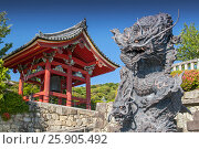 Купить «The Dragon Stone Carving at Kiyomizu-dera Temple Complex Area in Kyoto, Japan», фото № 25905492, снято 19 июля 2019 г. (c) BE&W Photo / Фотобанк Лори