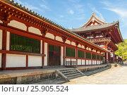 Купить «Todai-ji temple (Eastern Great Temple), Nara-shi, Nara Prefecture, Kansai region, Japan», фото № 25905524, снято 27 марта 2019 г. (c) BE&W Photo / Фотобанк Лори