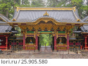 "Nikko Toshogu Shrine in Nikko ""Shrines and Temples of Nikko"" a UNESCO world heritage site, Tochigi, Japan. Стоковое фото, агентство BE&W Photo / Фотобанк Лори"