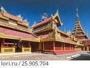 Купить «The Mandalay Palace, located in Mandalay, Myanmar, is the last royal palace of the last Burmese monarchy», фото № 25905704, снято 29 мая 2020 г. (c) BE&W Photo / Фотобанк Лори