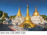 Купить «Maha Aung Mye Bom San Monastery complex, Inwa, Mandalay Region, Burma», фото № 25905720, снято 20 мая 2019 г. (c) BE&W Photo / Фотобанк Лори