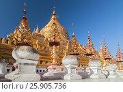 Купить «The Shwezigon Pagoda, the famous chedi in Bagan, Myanmar», фото № 25905736, снято 6 июня 2020 г. (c) BE&W Photo / Фотобанк Лори