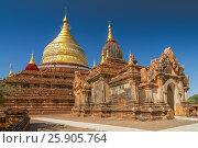 Купить «Dhammayazika Pagoda Temple on the Plain of Bagan, Myanmar (Burma)», фото № 25905764, снято 5 июля 2020 г. (c) BE&W Photo / Фотобанк Лори