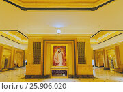 Купить «Hall decoration in Emirates Palace hotel a luxurious and the most expensive 7 star hotel in Abu Dhabi, the capital city of United Arab Emirates», фото № 25906020, снято 19 ноября 2018 г. (c) BE&W Photo / Фотобанк Лори