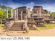 Купить «Vatadage (Round House) of Polonnaruwa ruin Unesco world heritage on Sri Lanka», фото № 25906140, снято 16 октября 2018 г. (c) BE&W Photo / Фотобанк Лори