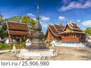 Купить «Wat Xieng Thong Buddhist temple, Luang Prabang, Laos, Indochina, Asia», фото № 25906980, снято 25 мая 2019 г. (c) BE&W Photo / Фотобанк Лори