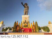 Купить «Statue of King Sisavang, Vientiane, Laos, Indochina, Southeast Asia, Asia», фото № 25907112, снято 27 мая 2019 г. (c) BE&W Photo / Фотобанк Лори