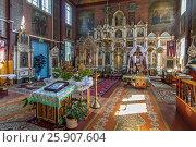 Купить «Interior of the Orthodox church in Puchly (Puchіy) village north-eastern Poland», фото № 25907604, снято 23 октября 2019 г. (c) BE&W Photo / Фотобанк Лори