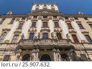 Купить «Ornate facade of the historic university building in Wroclaw old town, Poland», фото № 25907632, снято 22 октября 2019 г. (c) BE&W Photo / Фотобанк Лори