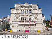 White building of Polish Theatre in Poznan Poland. Стоковое фото, агентство BE&W Photo / Фотобанк Лори