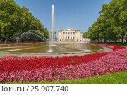 Купить «Poznan Stanisіaw Moniuszko Great Theatre (Opera) building with fountain and garden, Poland», фото № 25907740, снято 22 октября 2019 г. (c) BE&W Photo / Фотобанк Лори