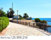 Купить «Promenade of Punta Prima. Costa Blanca. Province of Alicante. Spain», фото № 25909216, снято 28 марта 2017 г. (c) Alexander Tihonovs / Фотобанк Лори