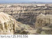 Голубиная долина - живописный каньон в Каппадокии, Турция, фото № 25910556, снято 6 января 2015 г. (c) Юлия Бабкина / Фотобанк Лори