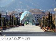 Купить «Современная архитектура Тбилиси, Грузия. Мост Мира», фото № 25914328, снято 23 декабря 2016 г. (c) Светлана Колобова / Фотобанк Лори