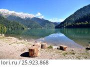 Купить «Вид на горное озеро Рица, Абхазия», фото № 25923868, снято 26 сентября 2014 г. (c) Александр Карпенко / Фотобанк Лори
